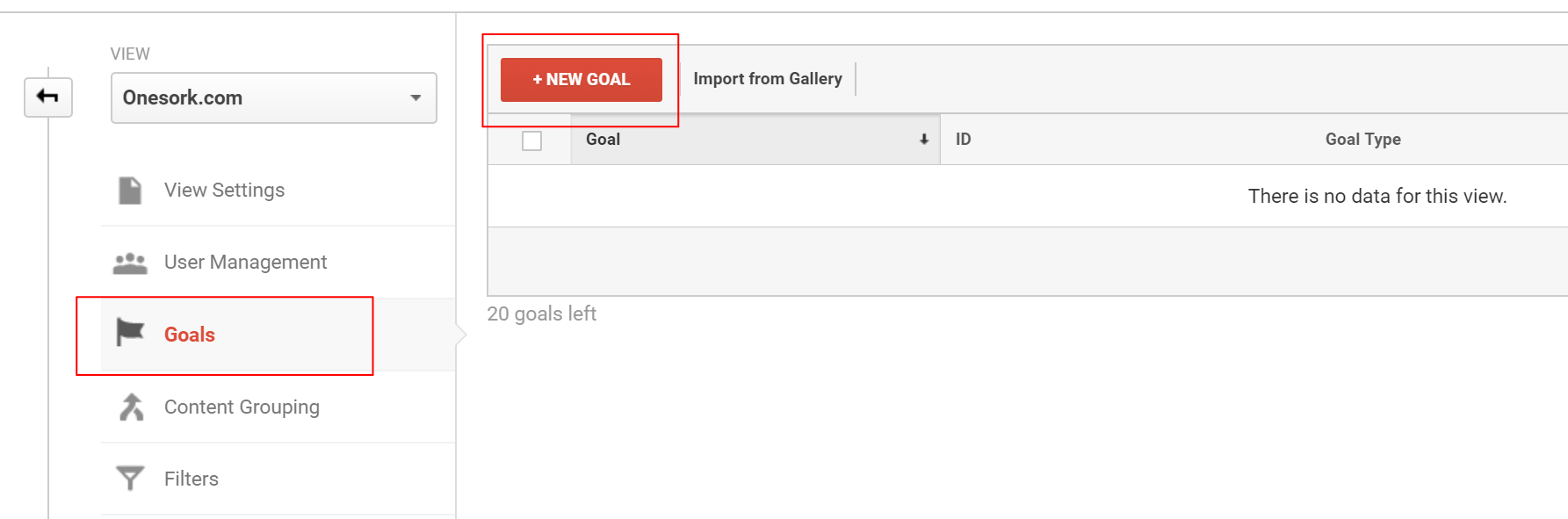 Google Analytics: Set up conversion tracking