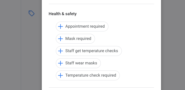 New Attributes in Google My Business